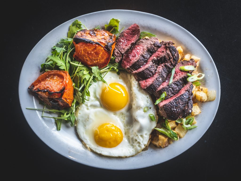 24 Diner Steak and Eggs