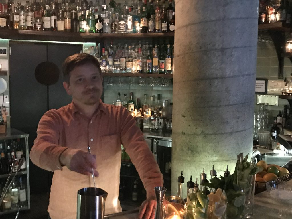 GM and Beverage Manager Paul Finn at Garage in Austin