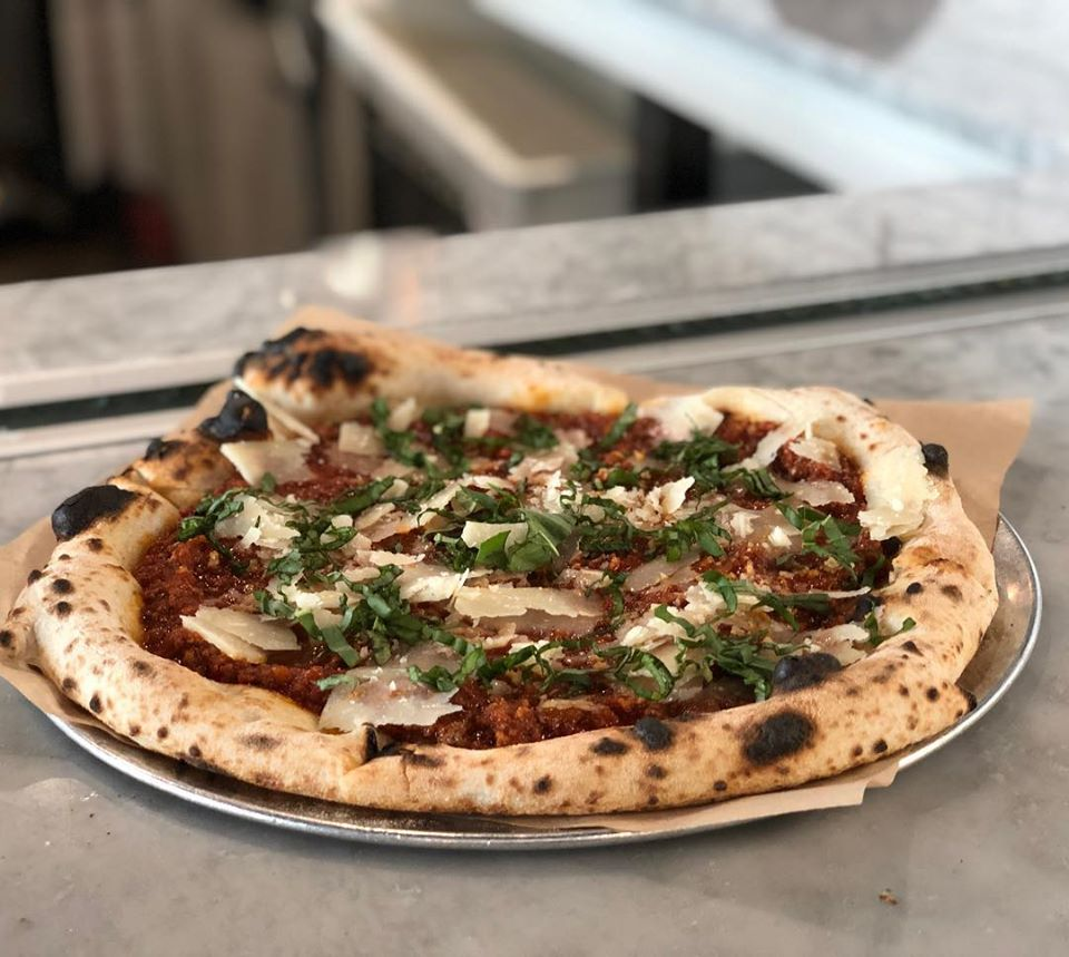 Pizza Bolognese at Pieous