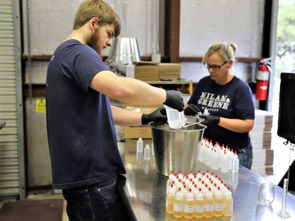 Milam and Greene Heads and Hearts Hand Sanitizer for the cause (Credit: Milam and Greene)
