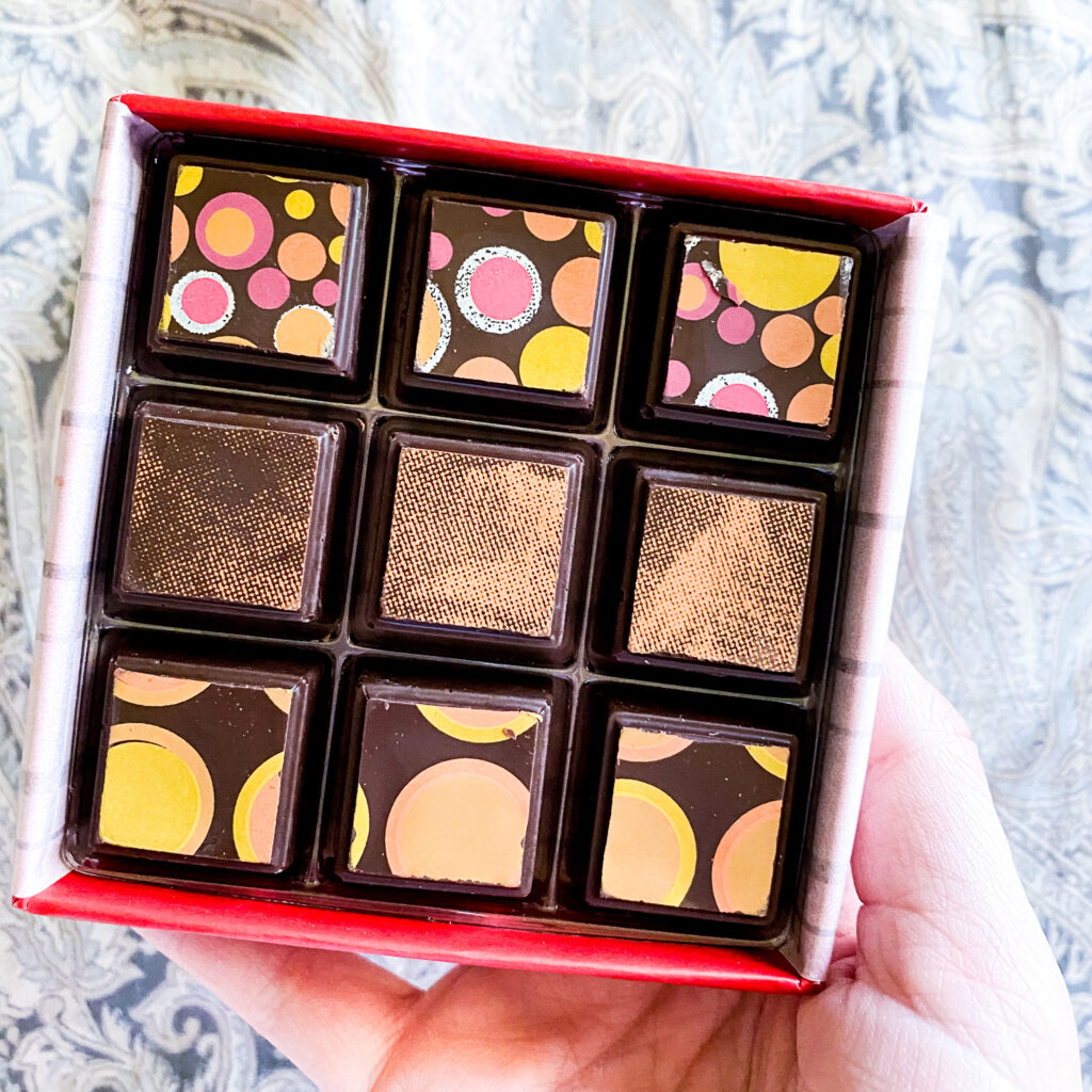 Delysia Chocolatier's Spirit Collection includes scotch, bourbon, and rum infused truffles