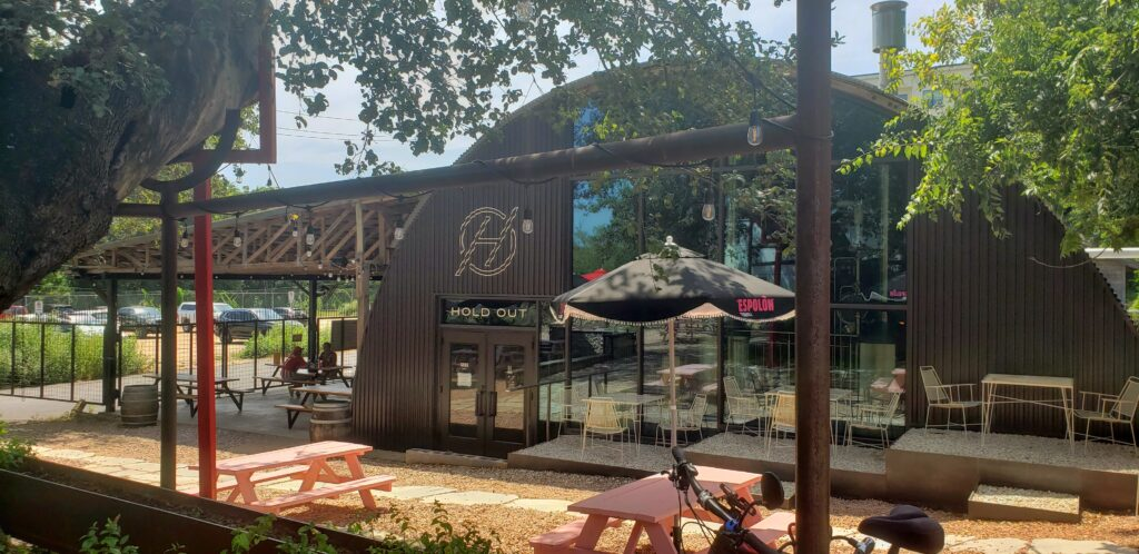 Hold Out Brewing courtyard