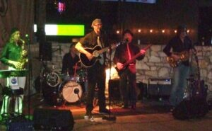 The PJs performing at Guero's Taco Bar in Austin