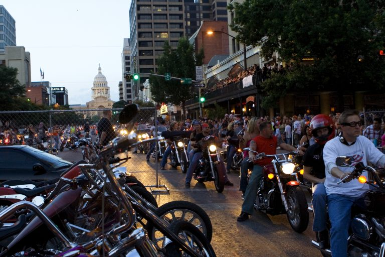 ROT Biker Rally fans and thousands of thundering