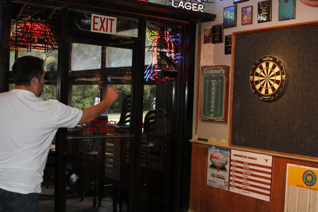 Playing cricket with darts at Crown and Anchor Pub