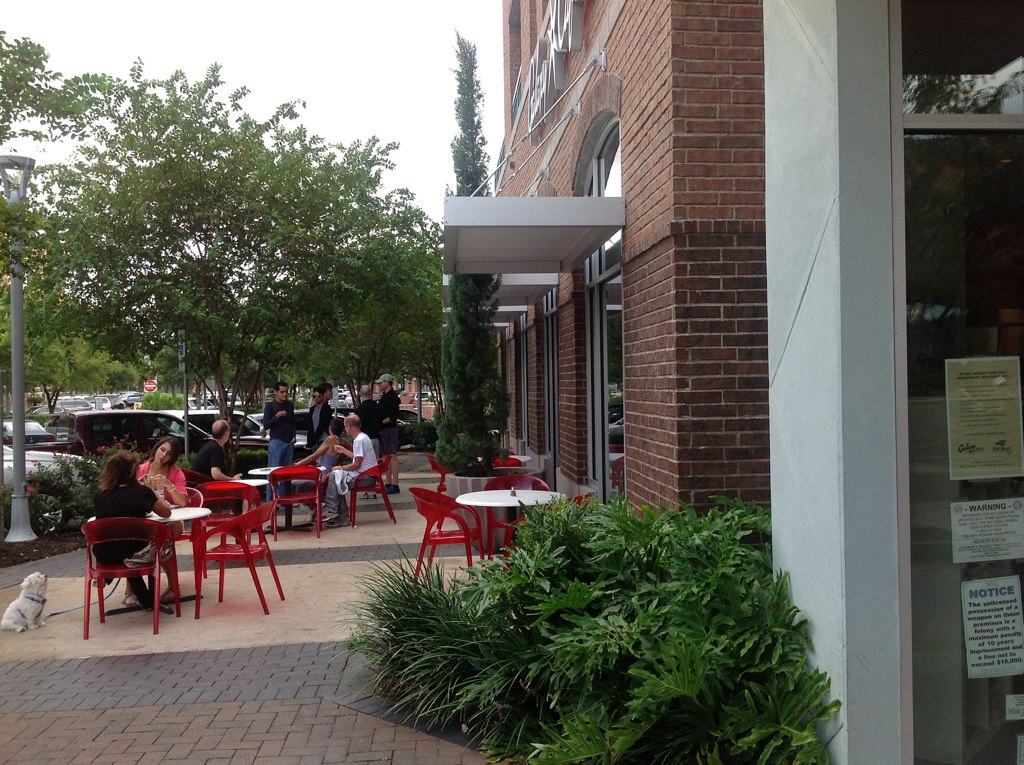 Outdoor patio at Galaxy Cafe's Triangle location