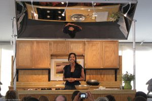 Cooking demonstration at Texas Book Festival