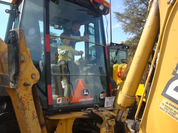 Digger at Touch a Truck Austin
