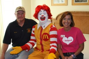 Colonel McIntire, Ronald McDonald and Ann Jerome