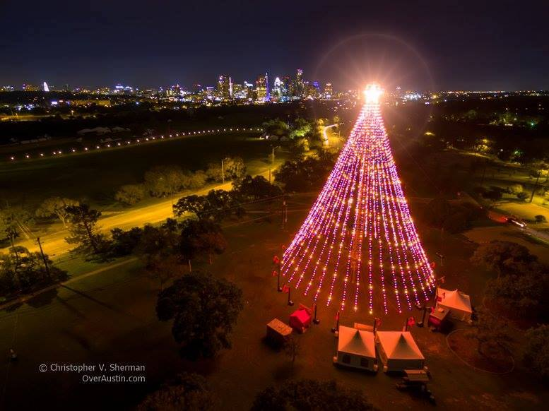 Zilker Tree Christmas Eve in Austin
