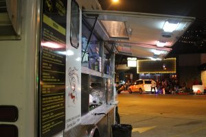 Pecos Tacos food truck at 6th St. and Rio Grande