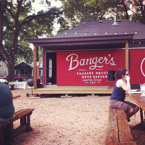 Banger's Sausage House and Beer Garden in Austin