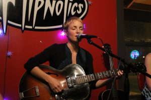 Singer Erin Ivey at Flipnotics in Austin