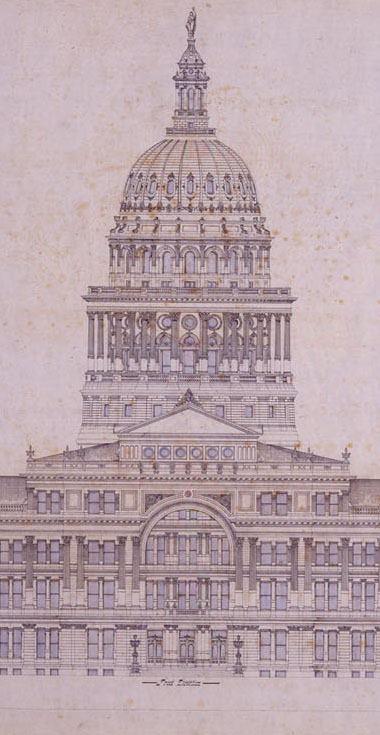Original Capitol Building blueprint