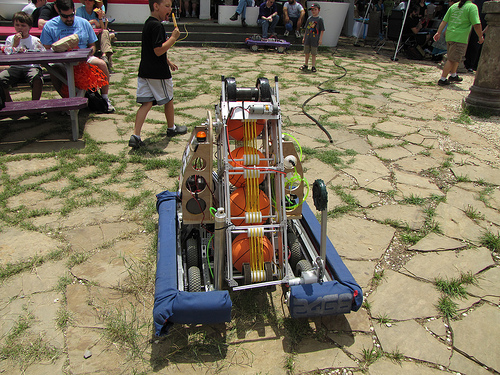 Robot at Austin Mini Maker Faire