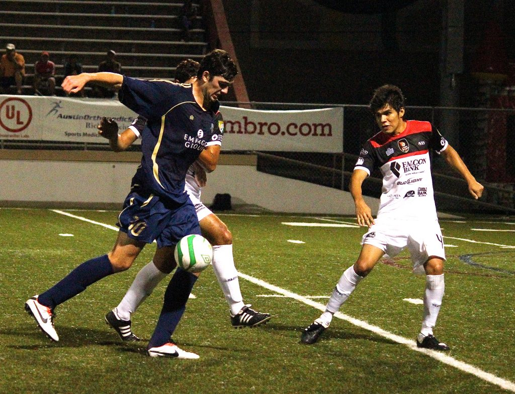 Austin Aztex Soccer Team Playing Game