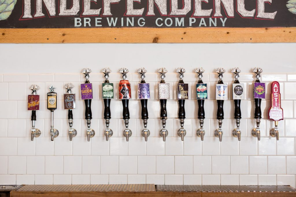 Independence Brewing Co. Tap Wall