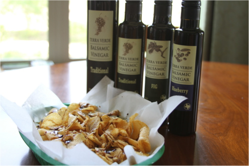 Kettle Chips Balsamic Vinegar Texas Hill Country Olive Company