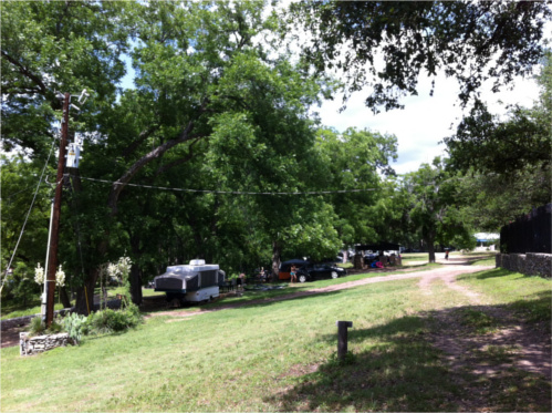 Camping at Krause Springs in Spicewood, TX
