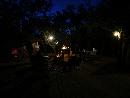 Camping at Inks Lake State Park