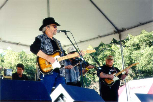 Redd Volkaert takes the stage with Merle Haggard