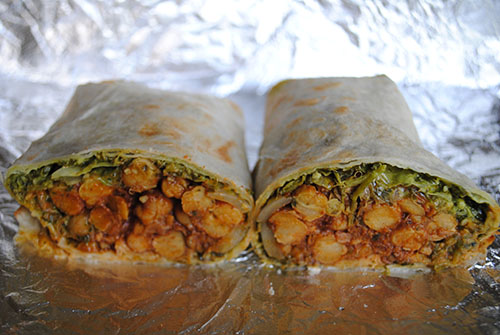 Conscious Cravings Spicy Chickpea Wrap
