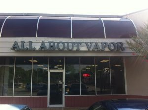 Storefront at Austin All About Vapor