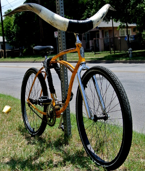 Bike with Longhorn Handlebars