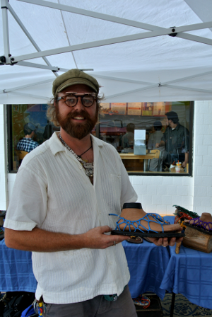 Chad Motes Hammache sandals at 23rd St. Artists' Market