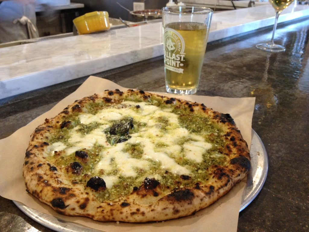 The Pesto Pizza at Pieous