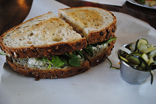 Chicken and Eggplant Sandwich at Foodheads