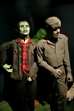 These are two of the many wax statues located in the museum.