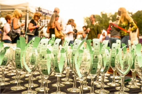 Gruene Music and Wine Festival Souvenir Glasses