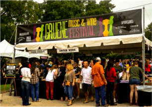 Gruene Music and Wine Festival Entrance