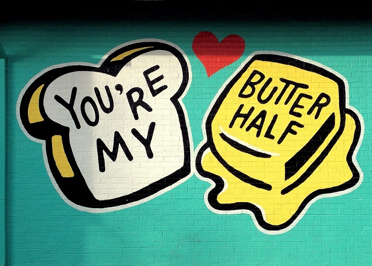 You're My Butter Half Street Art Austin