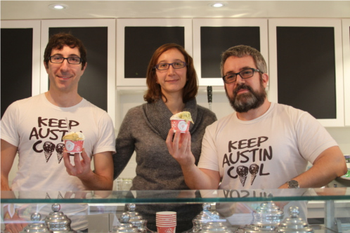 Marco, Francesca and Leo, Dolce Neve Owners