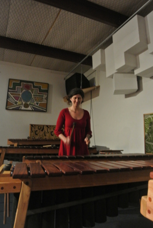 Rakefet Avramovitz at Rattletree School of Marimba