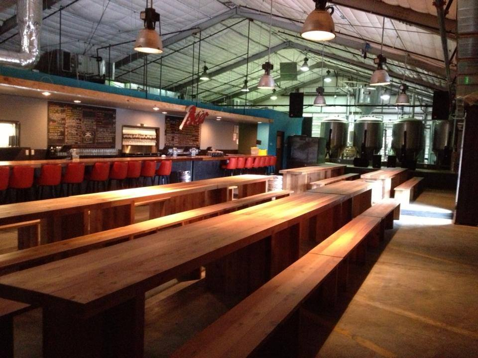 Inside Austin Beer Garden Brewing Company