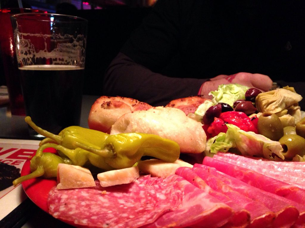 Antipasto Place at Home Slice in Austin