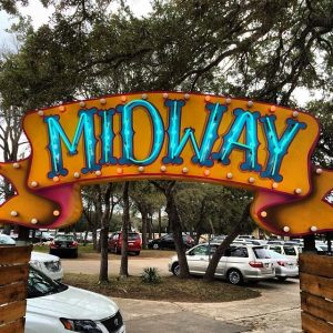 Entry Sign to Midway Food Park