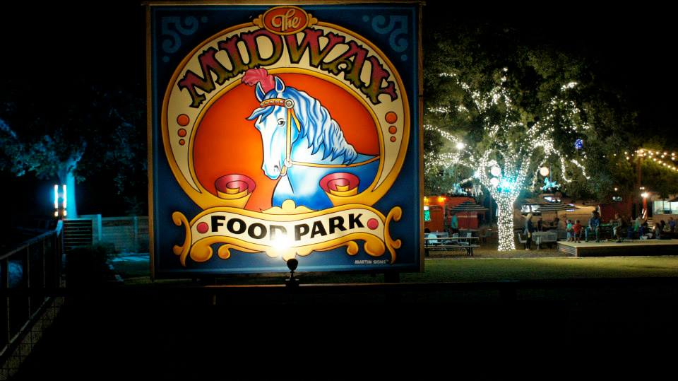 Circus Signage at Midway Food Park
