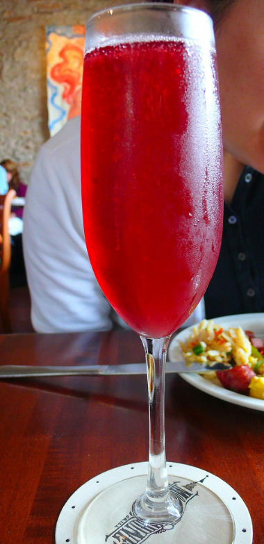 Pomegranate Mimosa, drink