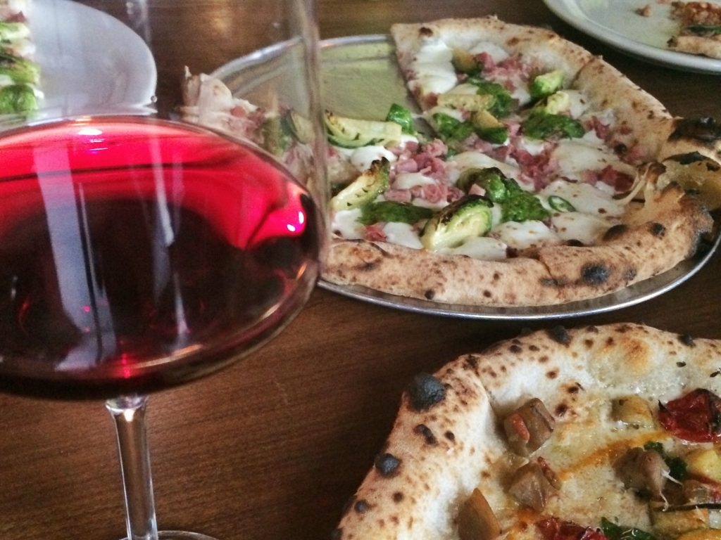 Wine and Pizza at Bufalina