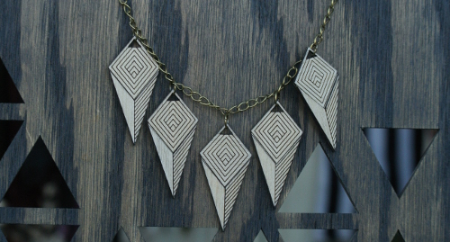 Diamonds Are Evil Laser Cut Wood Jewelry