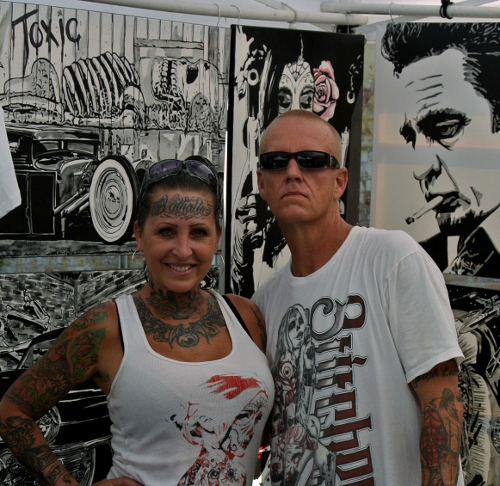 Stiches Owners London and Cliff Damron