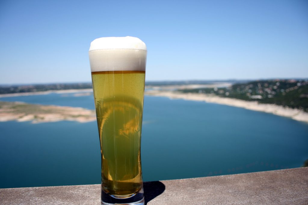 Oasis Brewing View of Lake Travis