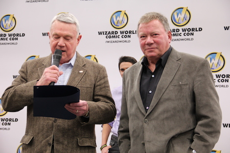 William Shatner and Mayor Lee Leffingwell at Austin Comic Con
