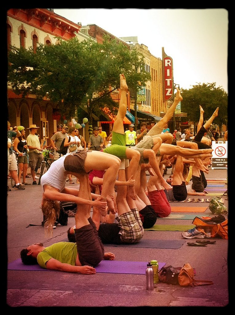Couples Yoga in Downtown Austin