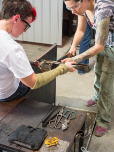 LeafDistrict glassblowing workshop
