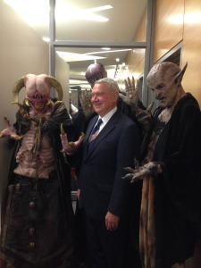 Mayor Lee Leffingwell with House of Torment Monsters